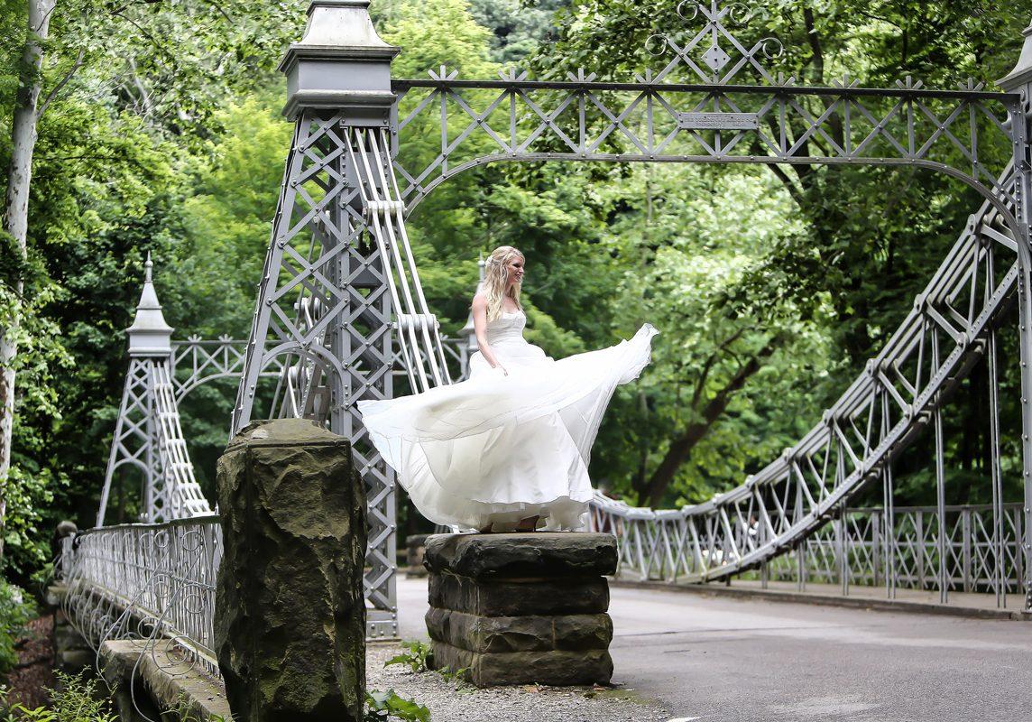 Limelight wedding photo Youngstown OH princess bridge
